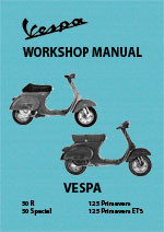 Vespa 50R, 50S and 125 Primavera Workshop Repair Manual