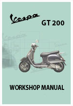 Vespam GT200 Motor Scooter Workshop Repair Manual