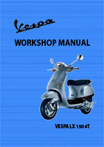 Vespa LX140 4T Motor Scooter Workshop Repair Manual